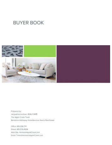 Apple Creek Team Buyer Book