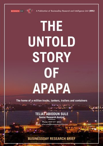 The Untold Story of Apapa latest