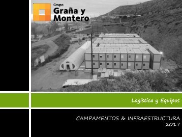 Catalogo Campamento e Infraestructura 2017
