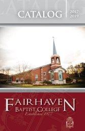 Fairhaven Baptist College Catalog 2017-2019