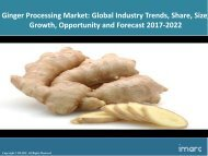 Glob Ginger Processing Marketal Trends, Share, Size and Forecast 2017-2022