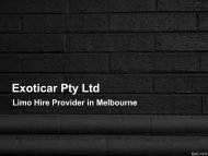 Best Stretch Limo Hire in Melbourne - Exoticar Pty Ltd