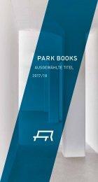 Flyer Ausgewählte Titel 2017/18 Park Books