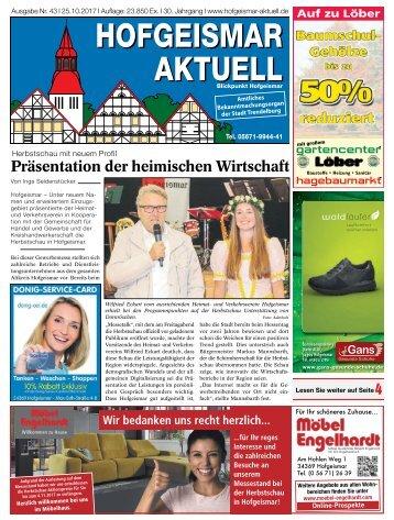 Hofgeismar Aktuell 2017 KW 43