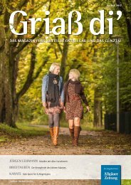 Griaß di' Magazin Herbst 2017