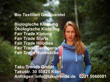 Bio Textilien Großhandel Fair Trade