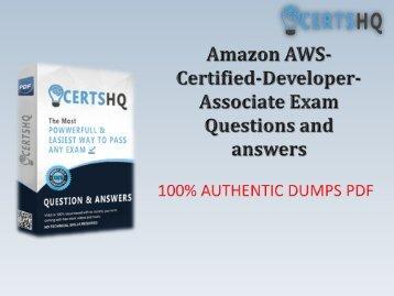 Get Actual AWS-Certified-Developer-Associate PDF Test Questions Dumps