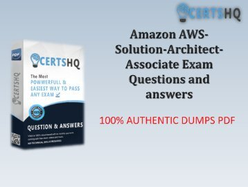 Download REAL AWS-Solution-Architect-Associate Test PDF Test Dumps