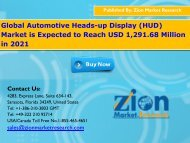 Global Automotive Heads-up Display (HUD) Market, 2015 – 2021