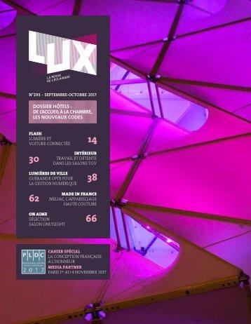LUX 293 - LUX, la revue de l'éclairage (Octobre 2017)