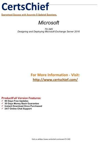 70-345 Practice Test Software