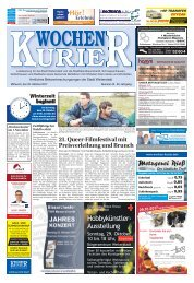Wochen-Kurier 43/2017 - Lokalzeitung für Weiterstadt und Büttelborn