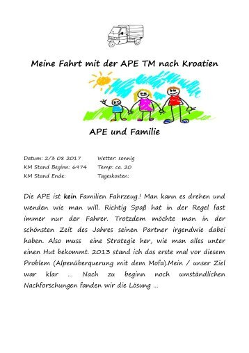 Reisebericht APE1d
