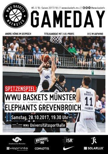 WWU Baskets Gameday #5 2017_18