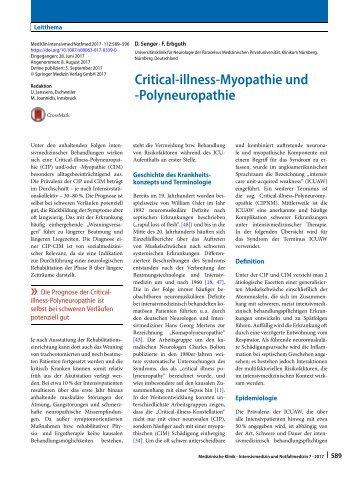 04 Critical-illness-Myopathie und -Polyneuropathie