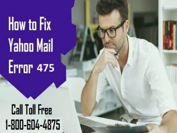 18006044875 Fix Yahoo Mail Error Code 475