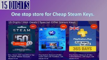 One stope store for cheap steam keys