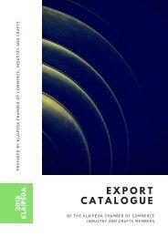 EXPORT CATALOGUE 2018