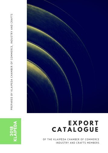 EXPORT CATALOGUE 2018