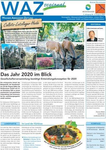 Das Jahr 2020 im Blick - Heidewasser GmbH