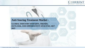 Anti-Snoring Treatment Market - Global Industry Insights, Trends, Outlook, And Analysis, 2017-2025