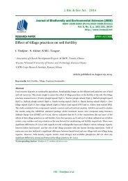 Effect of tillage practices on soil fertility