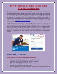 Solve BT Mail Issues with Bt contact number