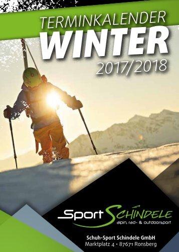 Sport Schindele Terminkalender WINTER 2017/2018