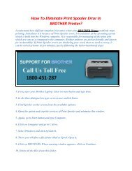 How To Eliminate Print Spooler Error In BROTHER
