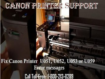 Fix U051 Error In Canon Printers