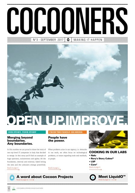 COCOONERS - Making It Happen - No 3, September 2017