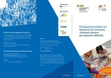 """Schulpartnerschaften im Netzwerk der Initiative """"Schulen: Partner der Zukunft"""" (PASCH)"""