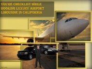 You're Checklist While Booking Luxury Airport Limousine