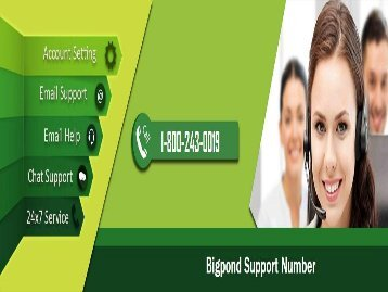 Bigpond Email Technical Support Number 1800-243-0019 For Help