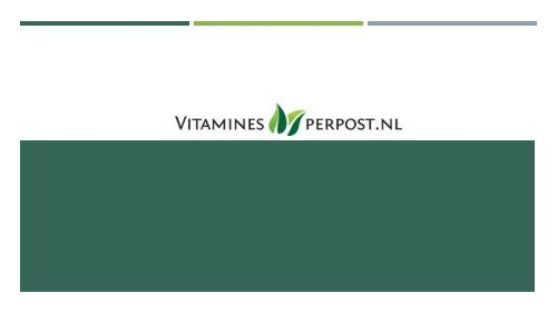 vitamines per post