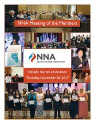 2017 NV Nurses Association Yearbook