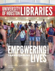 UH Libraries Newsletter Fall 2017