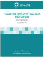 Informe Publicaciones por Departamento