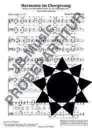 Harmonie im Chorgesang (für Männerchor TTBB)