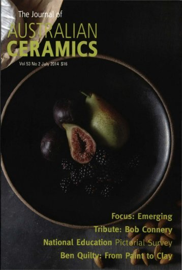 The Journal of Australian Ceramics Vol 53 No 2 July 2014