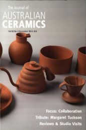 The Journal of Australian Ceramics Vol 53 No 3 November 2014