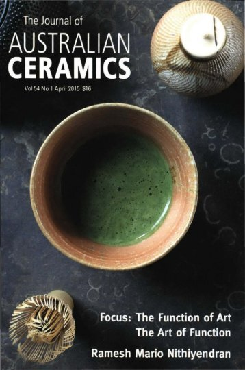 The Journal of Australian Ceramics Vol 54 No 1 April 2015