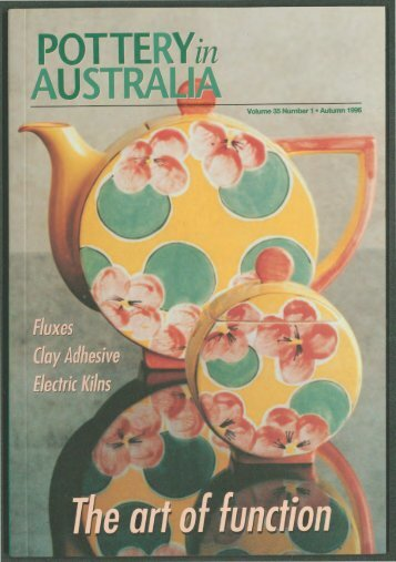 Pottery In Australia Vol 35 No 1 Autumn 1996