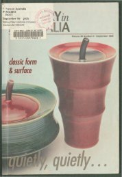 Pottery In Australia Vol 38 No 3 September 1999