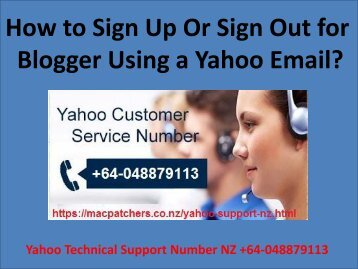 How to Sign Up Or Sign Out for Blogger Using a Yahoo Email?