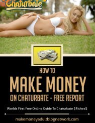 How To Make Money On Chaturbate