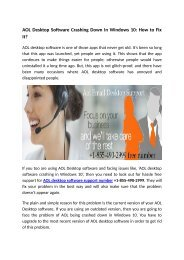 Hassle free support for AOl desktop Software number 1-855-490-2999