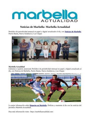 Noticias de Marbella- Marbella Actualidad