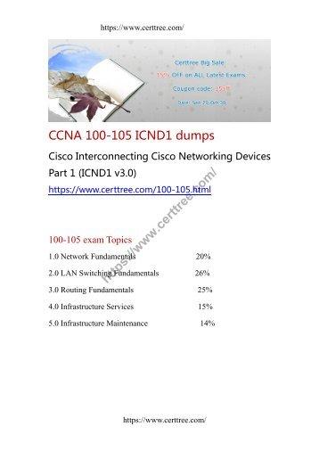 CCNA 100-105 ICND1 dumps