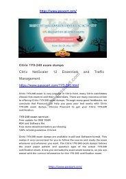 Citrix 1Y0-240 exam dumps